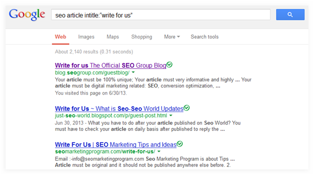 search websites for guest posting